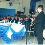 Mesa solene com o discurso do Professor Pedro Renato Lúcio Marcelino