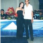 Professora Juliane e o aluno formando Márcio José da Silva
