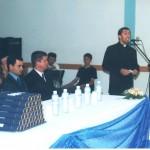 Mesa solene e o discurso do Padre  Adriano