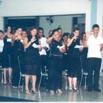 Alunos formandos da 1ª Turma fazendo o juramento