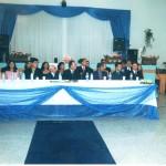 Mesa solene com o discurso do Vereador Dr. Cláudio Terazaka